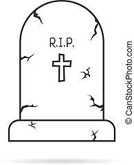 線, 単純である, 薄くなりなさい, 墓碑