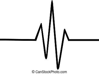 線, 心臓の鼓動, 薄くなりなさい