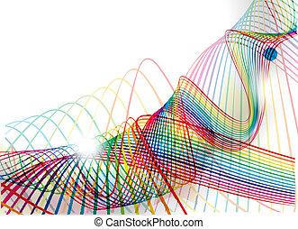 線, 抽象的, 波