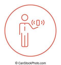 線, icon., 可動性