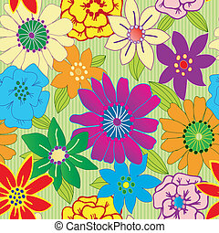 繰り返すこと, 花, カラフルである, seamless, 背景