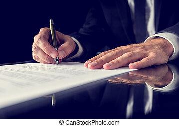 署名文書, 法的