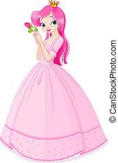 美しい, バラ, 王女