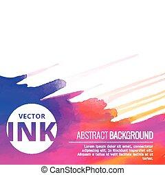 美しい, ベクトル, カラフルである, はね返し, デザイン, インク