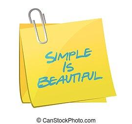 美しい, 単純である, メッセージ, ポスト, イラスト