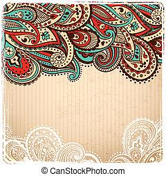美しい, 型, ペイズリー織