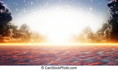 美しい, 天国, 日の出
