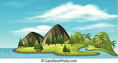 美しい, 島, 自然, トロピカル
