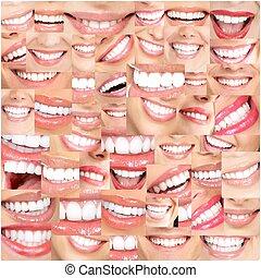 美しい, 微笑, teeth.