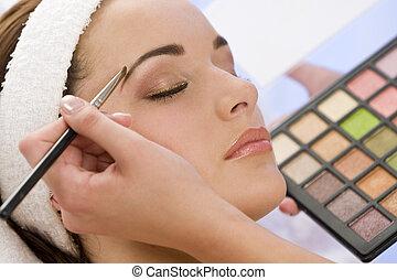 美しい, 応用, 女, 構成しなさい, 美容師, エステ, 持つこと
