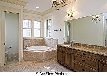 美しい, 新しい, 浴室, 建設