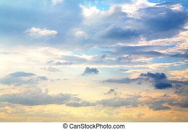 美しい, 日没の 空