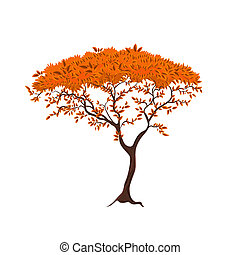 美しい, 木, デザイン, あなたの