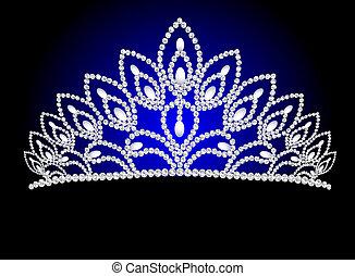 美しい, 真珠, 結婚式, 王冠, 女らしい