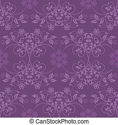 美しい, 紫色, 壁紙, seamless