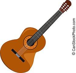 美しい, 色, イラスト, ギター, ベクトル, ∥あるいは∥