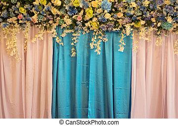 美しい, 花, 背景, 結婚式