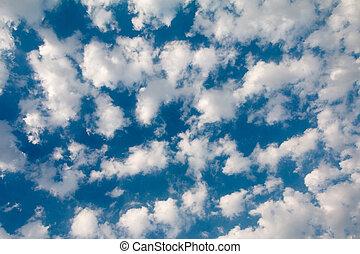 美しい, 雲, 空, 綿