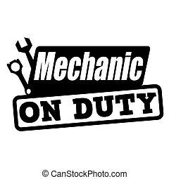 義務, 切手, 機械工