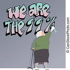 老化, 人口