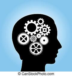 考え, プロセス, イメージ, ベクトル