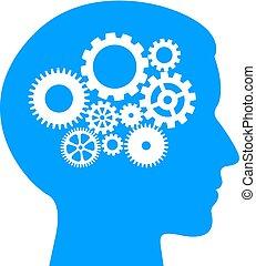 考え, プロセス, 論理名, pictogram