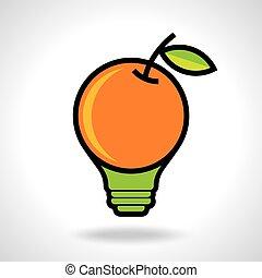 考え, 創造的, 健康, アイコン