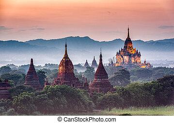 考古学的, bagan, ミャンマー, 地域