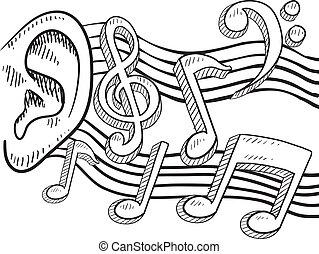 耳, 音楽