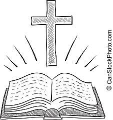 聖書, スケッチ, 交差点