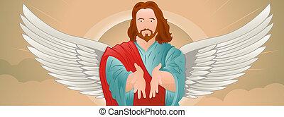 肖像画, イエス・キリスト, 翼