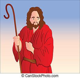 肖像画, ベクトル, キリスト, イエス・キリスト