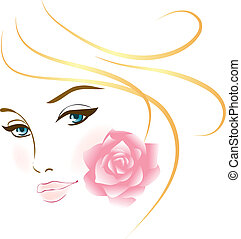 肖像画, 女の子, 美しさ, 顔