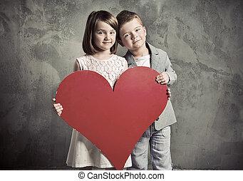 肖像画, 子供, 2, かわいい