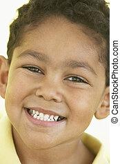 肖像画, 微笑, 男の子