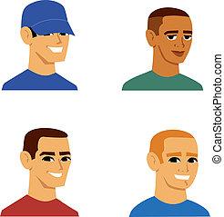 肖像画, 男性, avatar, 漫画