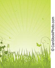 肖像画, 穏やかである, 緑の背景