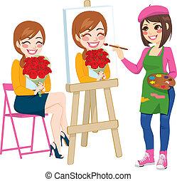 肖像画, 絵, 芸術家