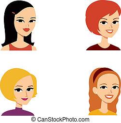 肖像画, avatar, 女, シリーズ