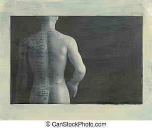 背中, 刺鍼術