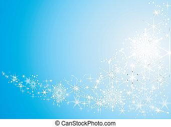 背景, お祝い, 抽象的, 雪, 星, 光沢がある, flakes.