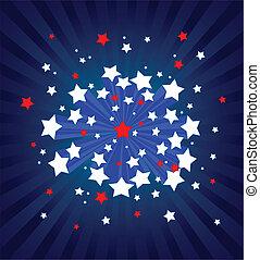 背景, アメリカ人, starburst