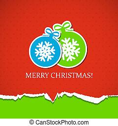 背景, クリスマス, ボール