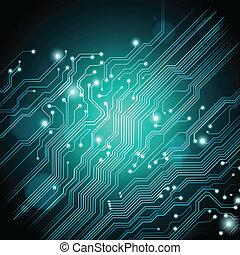 背景, 手ざわり, ベクトル, 板, 回路, 技術