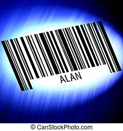 背景, 未来派, アラン, 青, -, barcode