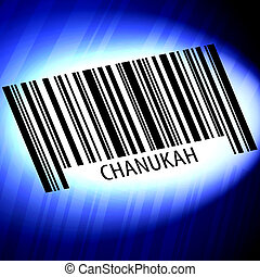 背景, 未来派, 青, -, chanukah, barcode