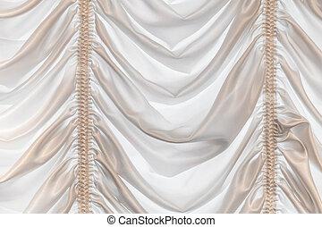 背景, 白, カーテン