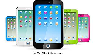 背景, 白, touchphones