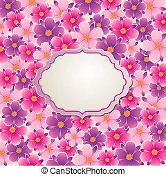 背景, 花, ピンク, すみれ