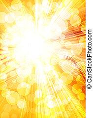 背景, 金, 太陽, 明るい